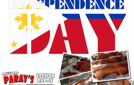Happy Independence Day from Paray's Lechon! Celebrate Special Occasionswith Paray's Lechon. For More Inquiries orFor Quick Orders Visit www.PARAYSLECHON.com We offer the best Lechon in Cebu. Taste it to believe.